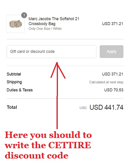 CETTIRE Discount Coupon