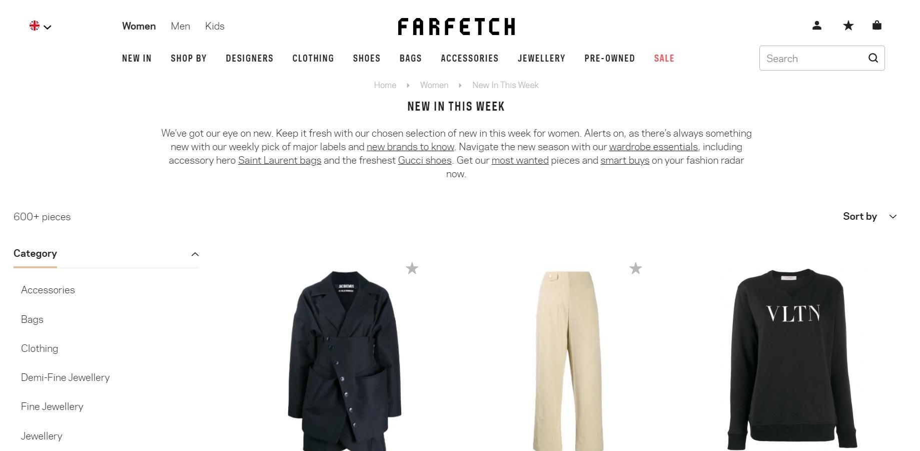 Farfetch Lüks Moda Mağazası